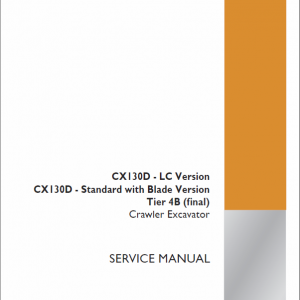 Case CX130D Crawler Excavator Service Manual