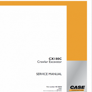 Case CX180C Crawler Excavator Service Manual