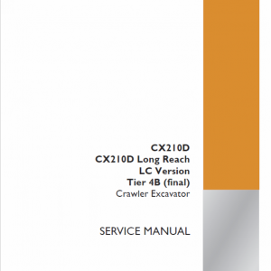 Case CX210D Crawler Excavator Service Manual