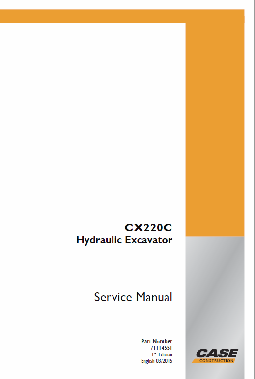 Case CX220C Crawler Excavator Service Manual