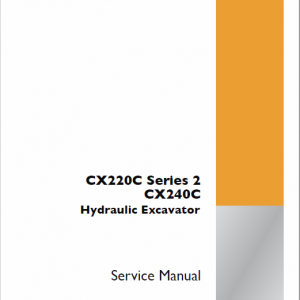 Case CX220C Series 2 Crawler Excavator Service Manual