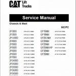 CAT 2P3000, 2P3500, 2PC4000, 2P4000 Lift Truck Service Manual