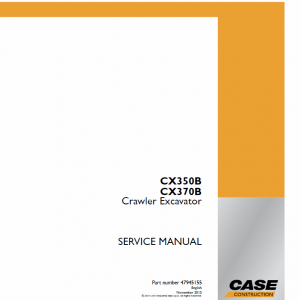 Case CX350B, CX370B Crawler Excavator Service Manual