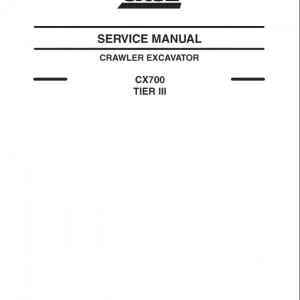Case CX700 Crawler Excavator Service Manual