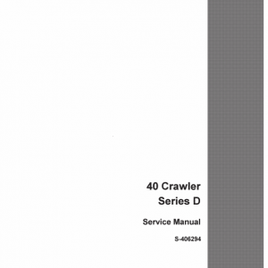 Drott Case 40 Crawler Excavator Series D Service Manual
