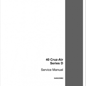 Drott Case 40 Cruz Air Excavator Series D Service Manual