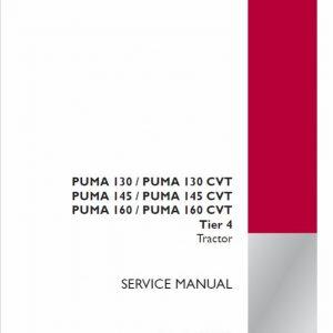 Case Puma 130, 145, 160 CVT Tractor Service Manual