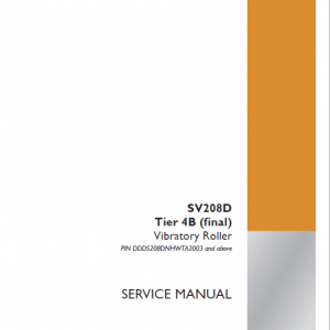 Case SV208D Vibratory Roller Service Manual