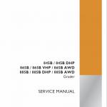 Case 845B, 845B DHP, 865B, 865 VHP, 865B AWD Grader Service Manual