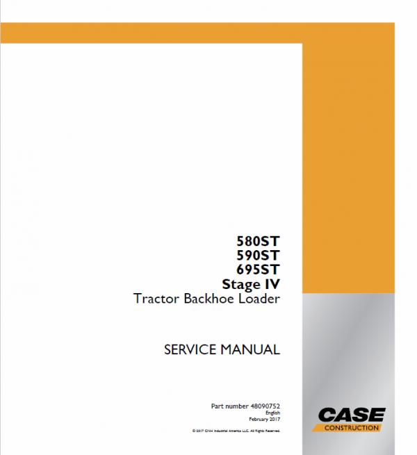 Case 580ST, 590ST, 690ST Backhoe Loader Service Manual