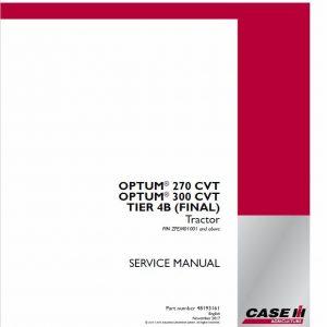 Case Optum 270 CVT, 300 CVT Tractor Service Manual