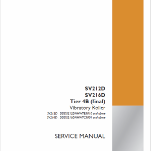 Case SV212D, SV216D Vibratory Roller Service Manual