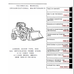Case MW24C Wheeled Loader Service Manual