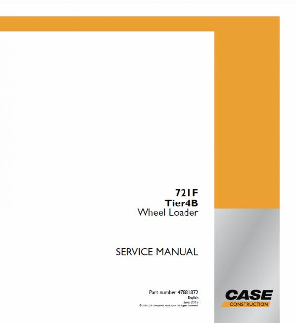 Case 721F Wheel Loader Service Manual