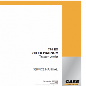 Case 770 EX Magnum Backhoe Loader Service Manual