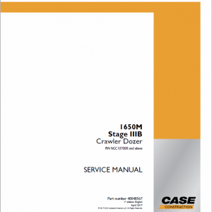 Case 1650M Crawler Dozer Service Manual