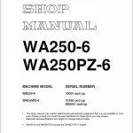 Komatsu WA250-6, WA250PZ-6 Wheel Loader Service Manual
