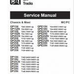 CAT DP25N, DP30N, DP35N Forklift Lift Truck Service Manual