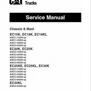 CAT EC15K, EC18K, EC18KL, EC20K Forklift Lift Truck Service Manual