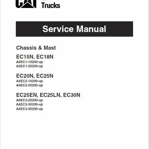 CAT EC15N, EC18N, EC20N Forklift Lift Truck Service Manual