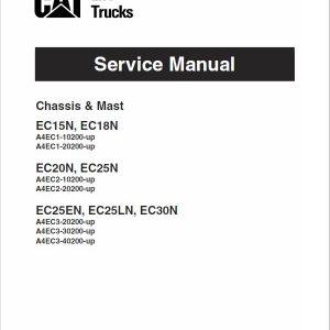 CAT EC25N, EC25EN, EC25LN, EC30N Forklift Lift Truck Service Manual