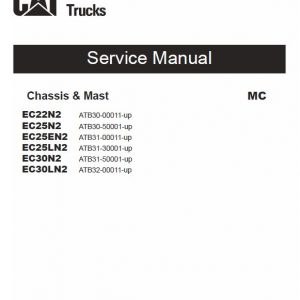 CAT EC25N2, EC25EN2, EC25LN2 Forklift Lift Truck Service Manual