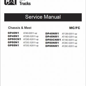 CAT DP40NM1, DP45NM1, DP50CNM1, DP50NM1, DP55NM1 Lift Truck Service Manual