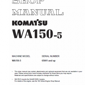 Komatsu WA150-5 Wheel Loader Service Manual