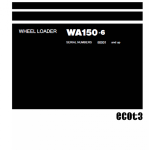 Komatsu WA150-6 Wheel Loader Service Manual