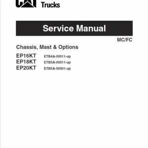 CAT EP16KT, EP18KT, EP20KT Forklift Lift Truck Service Manual