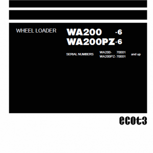 Komatsu WA200-6, WA200PZ-6 Wheel Loader Service Manual
