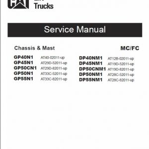 CAT GP40N1, GP45N1, GP50CN1, GP50N1, GP55N1 Lift Truck Service Manual