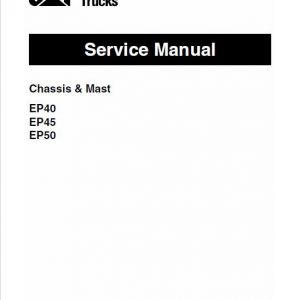 CAT EP40, EP45, EP50 Forklift Lift Truck Service Manual