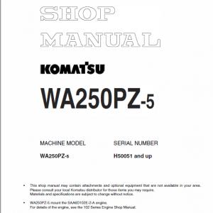Komatsu WA250PZ-5 Wheel Loader Service Manual