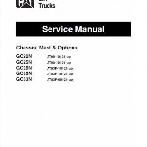 CAT GC20N, GC25N, GC28N, GC30N, GC33N Forklift Service Manual