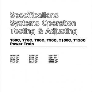 CAT T60C, T70C, T80C, T90C, T100C, T120C Lift Truck Service Manual