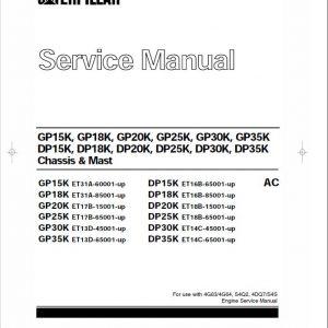 CAT GP15K, GP18K, GP20K, GP25K, GP30K, GP35K Forklift Service Manual
