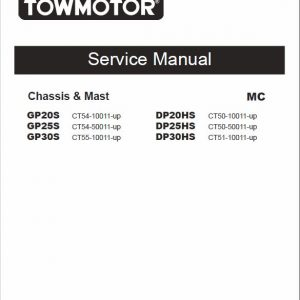 CAT GP20S, GP25S, GP30S Forklift Lift Truck Service Manual