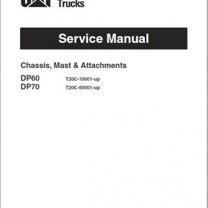 CAT DP60, DP70 Forklift Lift Truck Service Manual