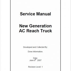 CAT NR14N, NR16N, NR20NH, NR25NH Reach Truck Service Manual