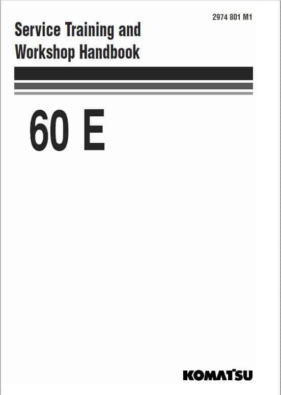 Komatsu 60E Wheel Loader Service Manual