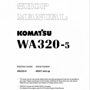 Komatsu WA320-5, WA320-5H Wheel Loader Service Manual