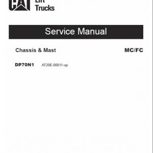 CAT DP70N1 Forklift Lift Truck Service Manual