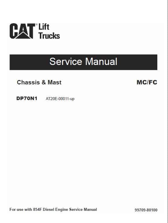 CAT DP70N1 Forklift Lift Truck Service Manual
