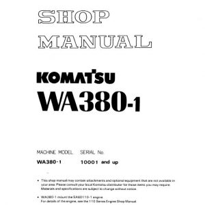Komatsu WA380-1 Wheel Loader Service Manual