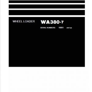Komatsu WA380-7 Wheel Loader Service Manual