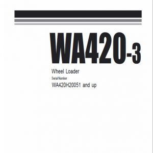 Komatsu WA420-3 Wheel Loader Service Manual