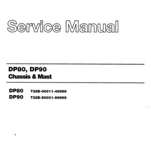 CAT DP80, DP90 Forklift Lift Truck Service Manual