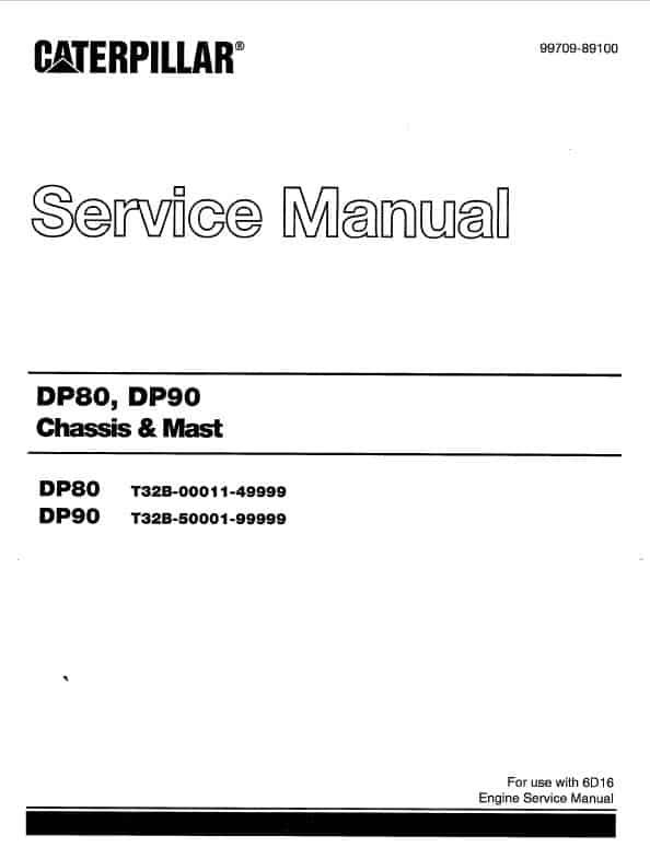 CAT DP80, DP90 Forklift Lift Truck Service Manual
