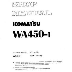 Komatsu WA450-1 Wheel Loader Service Manual